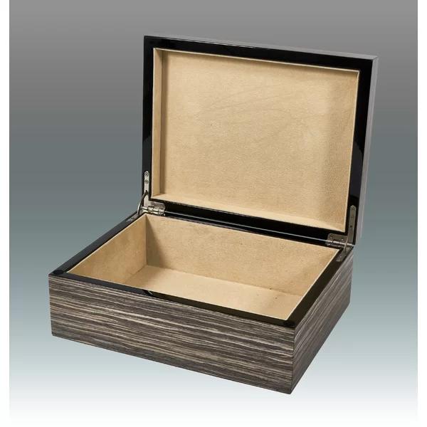 Empty Wood Decorative Box Decorative Boxes Grey Exterior Wood