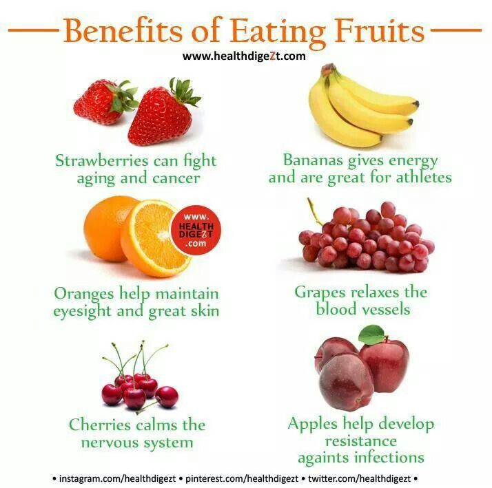 Benefits of eating fruit healthy things
