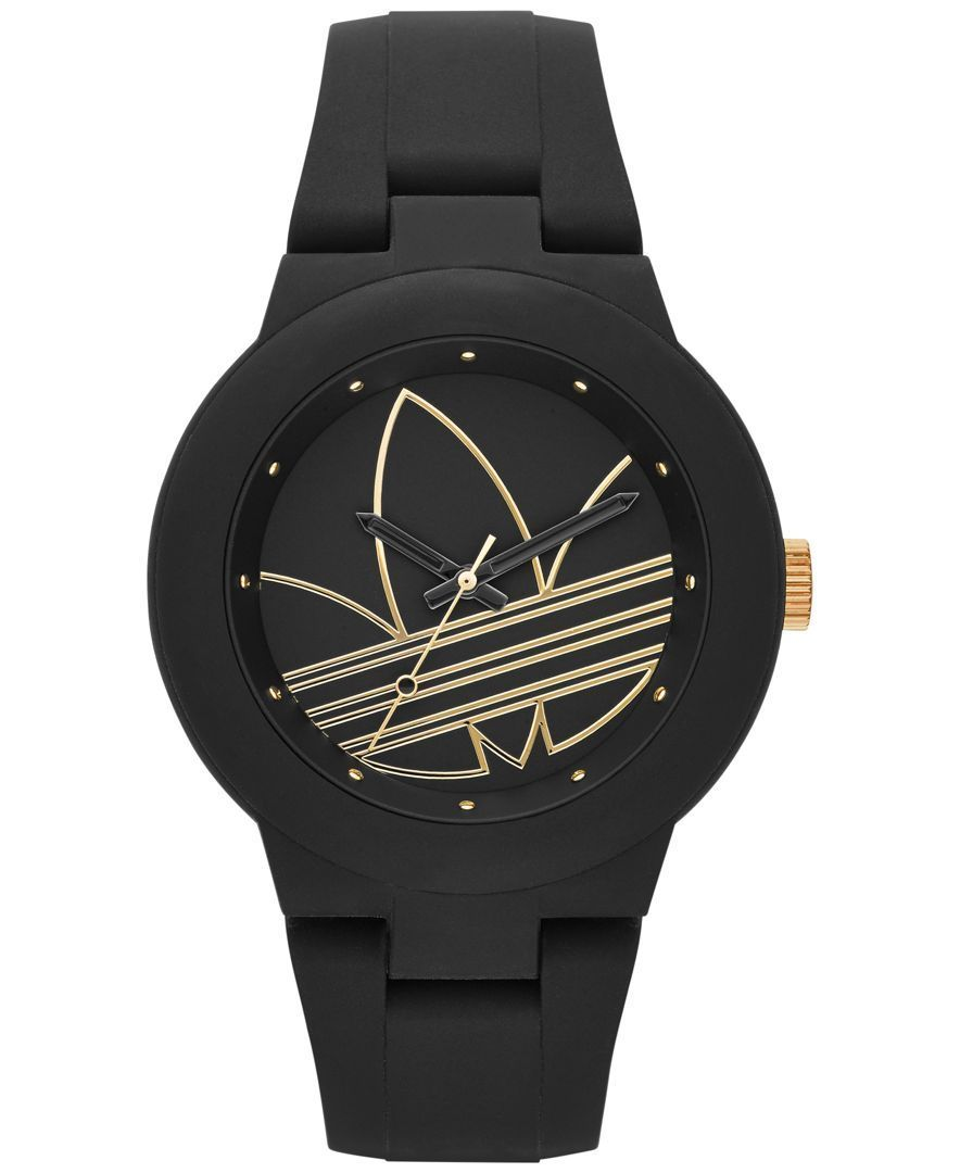 865b1ca2966 Sporty never looked so stylish as with this black silicone Originals watch  by adidas