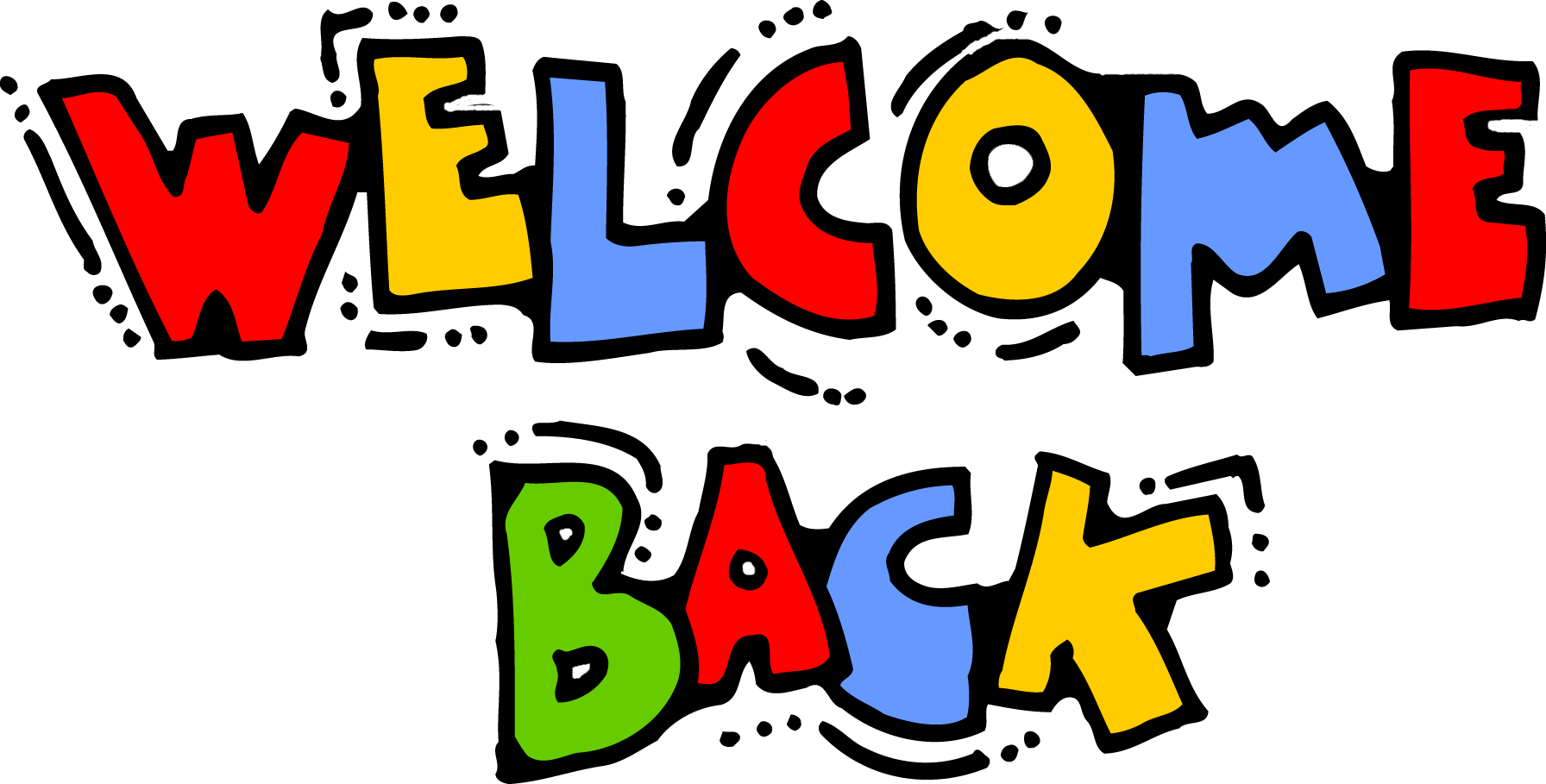Image result for welcome back clipart
