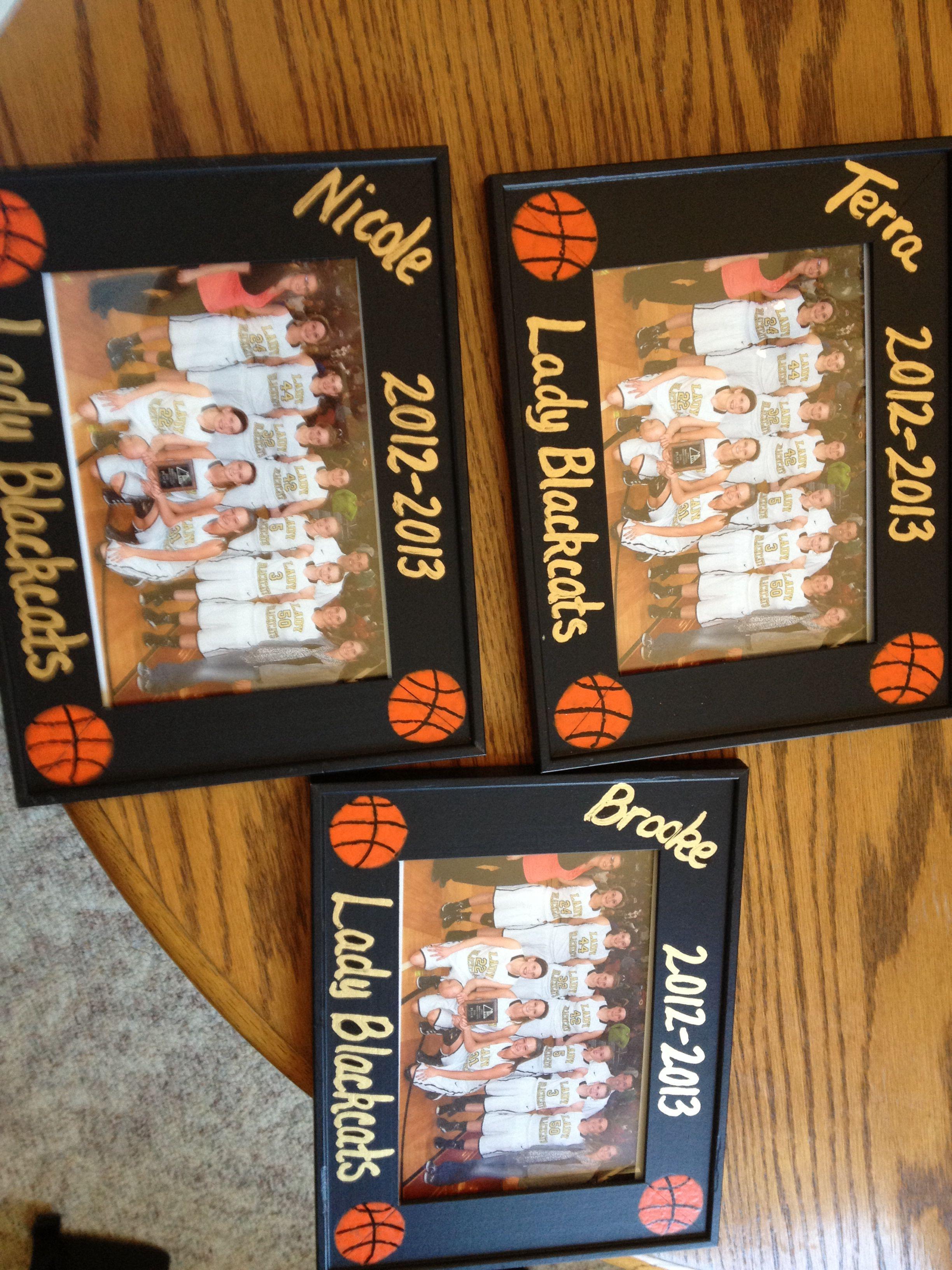 Frames I Made For 2013 Basketball Seniors Senior Gifts Team Gifts Diy Team Gifts