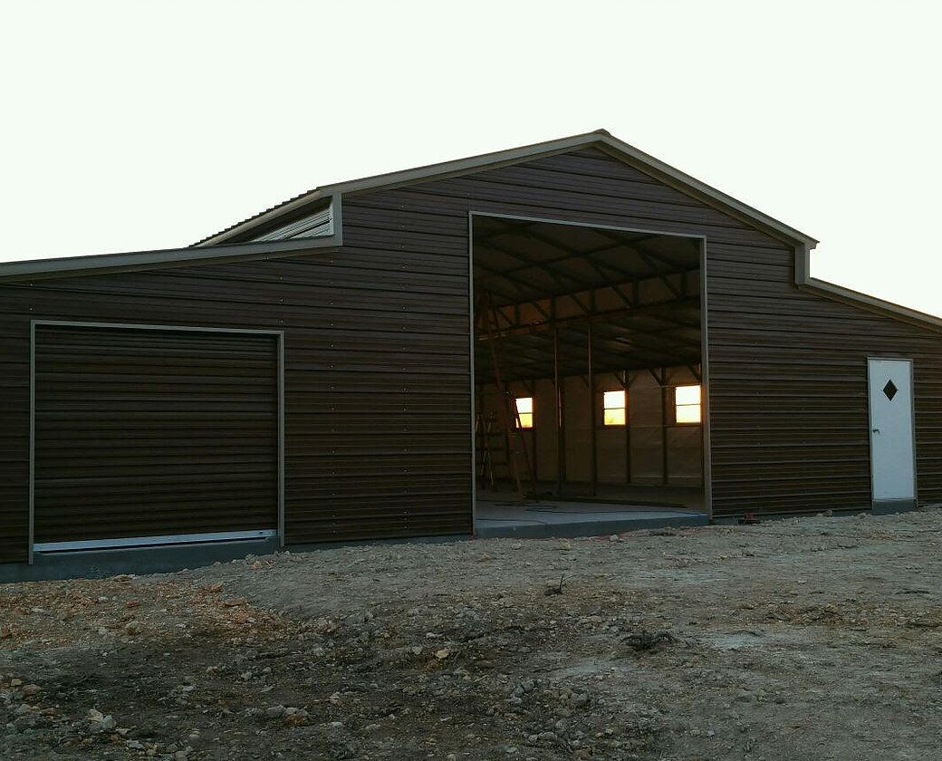 16 48 Wx 51 Lx 12 8 H Barn Vertical Roof Elite Metal Structures Unique Garage Doors Metal Garage Buildings Building A Pole Barn