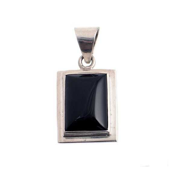 Sterling silver black onyx pendant simply beautiful black onyx sterling silver black onyx pendant simply beautiful black onyx cabochon set in sterling silver aloadofball Choice Image