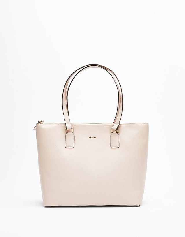 Zip Fastened Tote Bag from Bershka £22 8ae9602aaa9cc