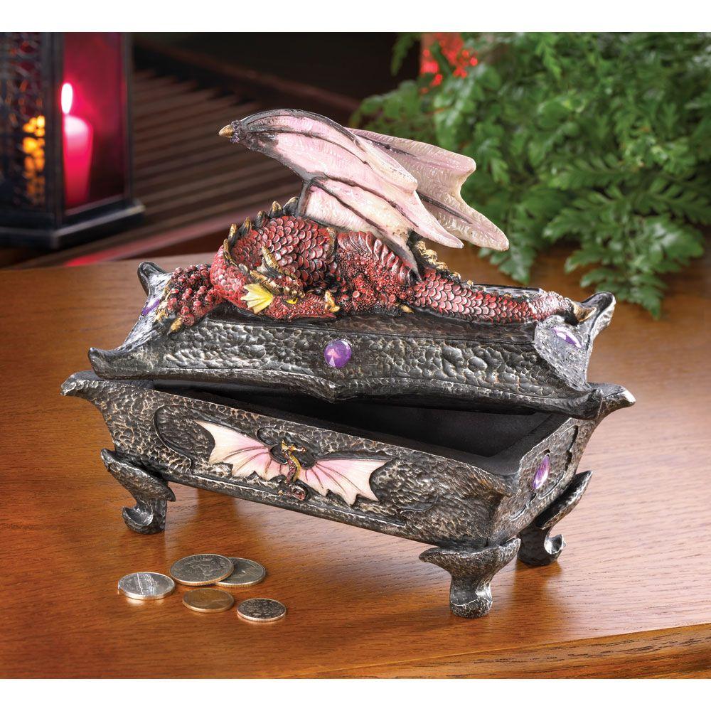 Сундук с драконом картинка