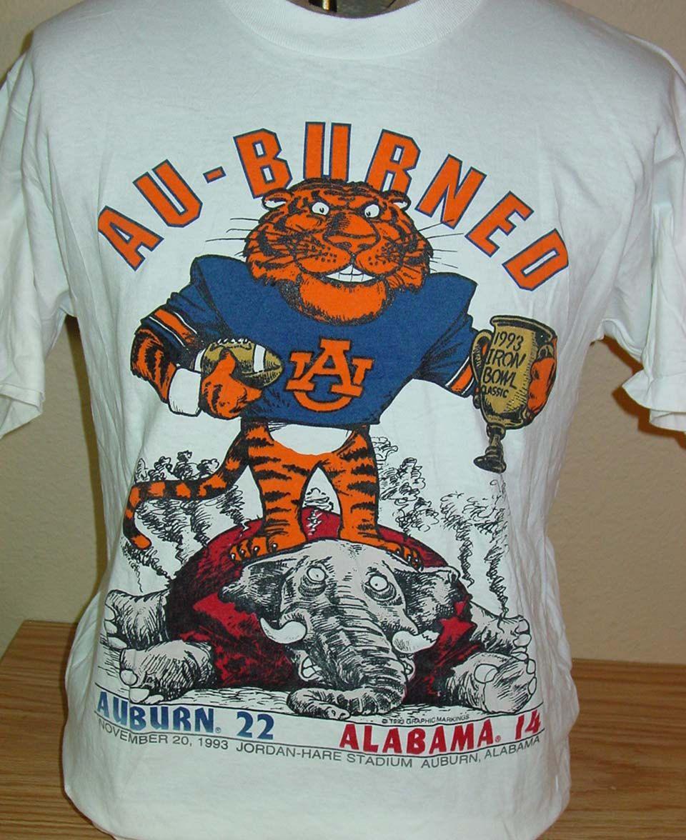 Vintage 1993 Auburn Tigers vs Alabama Iron Bowl t shirt Large by ...