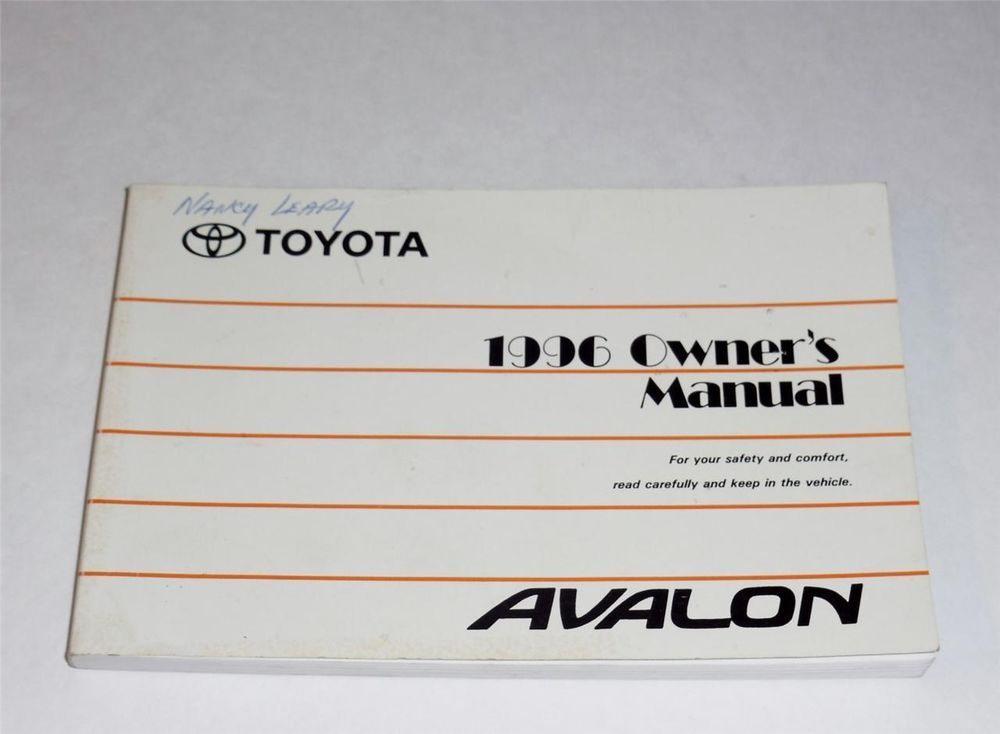 1996 toyota avalon owners manual book owners manuals pinterest rh pinterest com 1994 Toyota Avalon 1996 Toyota Avalon Interior