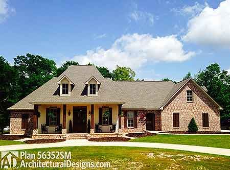 Plan 56352sm French Country Home Plan With Bonus Room
