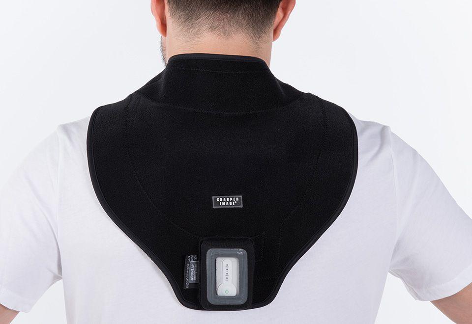 Cordless neck heat therapy wrap sharper image heat