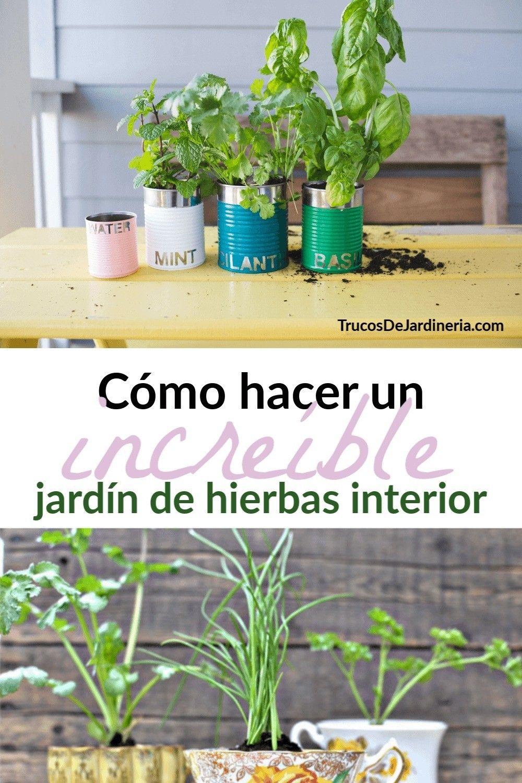 Cómo Hacer Un Jardín De Hierbas En Interiores Jardín De Hierbas Interior Jardín De Hierbas Cultivo De Hierbas En Interiores