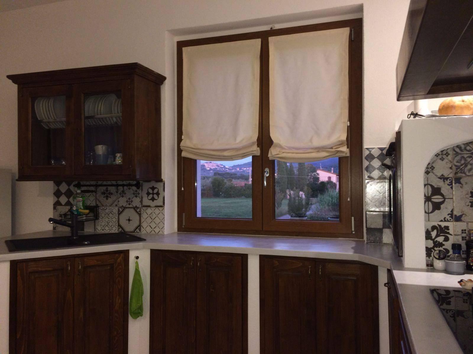 Tende Per Veranda Cucina veranda con tenda a fiori. tende da cucina in stile