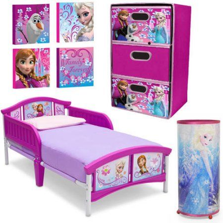 Disney Frozen 4 Piece Toddler Bed Set