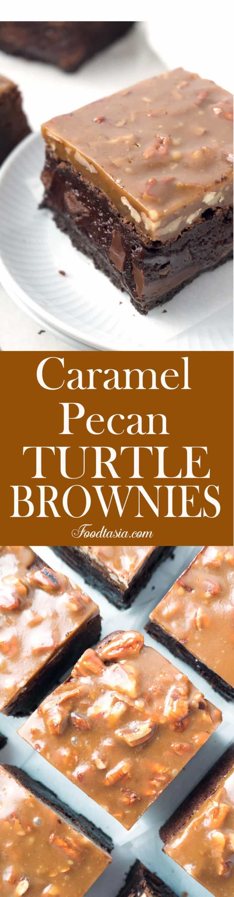Fudgy Caramel Pecan Turtle Brownies #turtlebrownies Fudgy Caramel Pecan Turtle Brownies | Foodtasia #turtlebrownies Fudgy Caramel Pecan Turtle Brownies #turtlebrownies Fudgy Caramel Pecan Turtle Brownies | Foodtasia #turtlebrownies