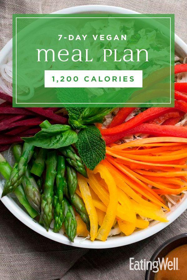 7-tägiger veganer Speiseplan: 1.200 Kalorien   – Vegan Recipes