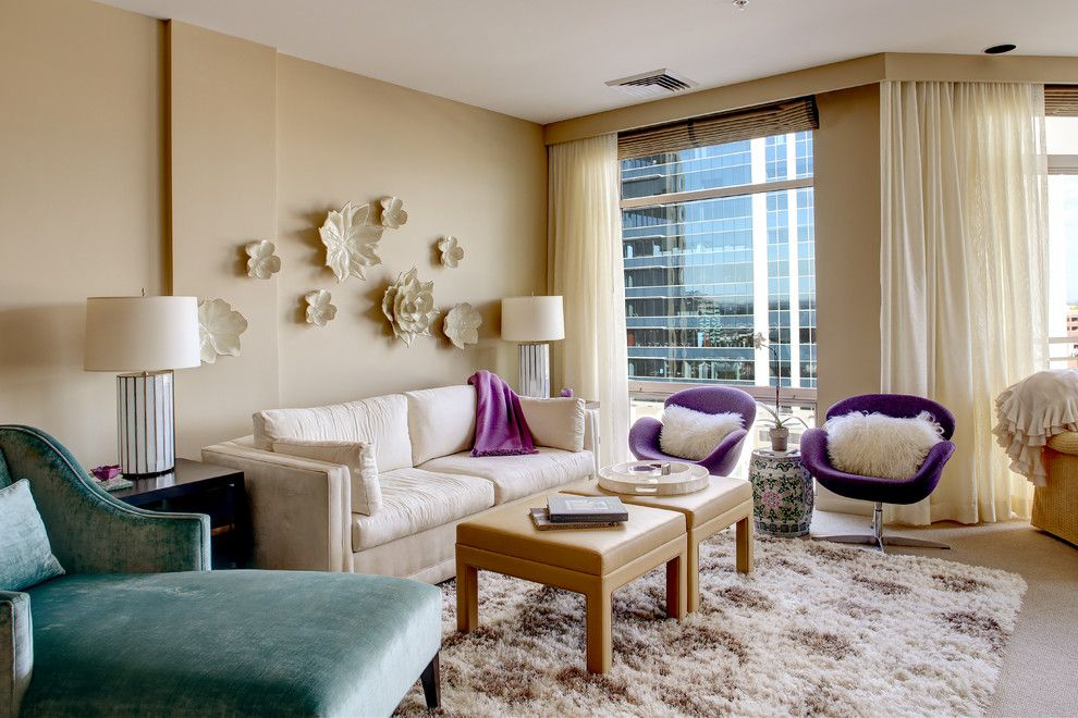 Purple Accent Chair Living Room Transitional with Ceramic ...