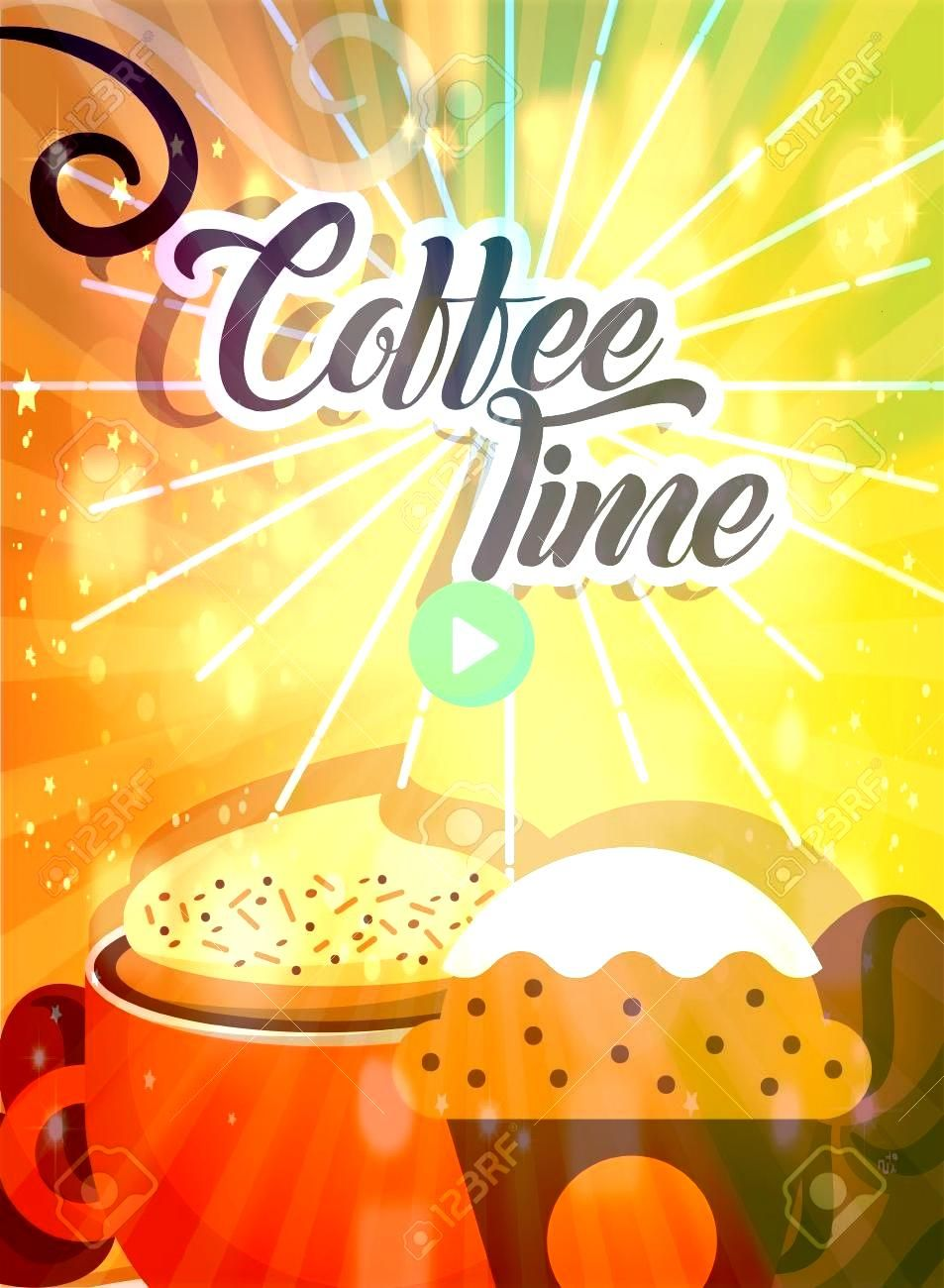 time cup hot foam beverage and cupcake retro style card vector illustration Coffee time cup hot foam beverage and cupcake retro style card vector illustration  All of our...