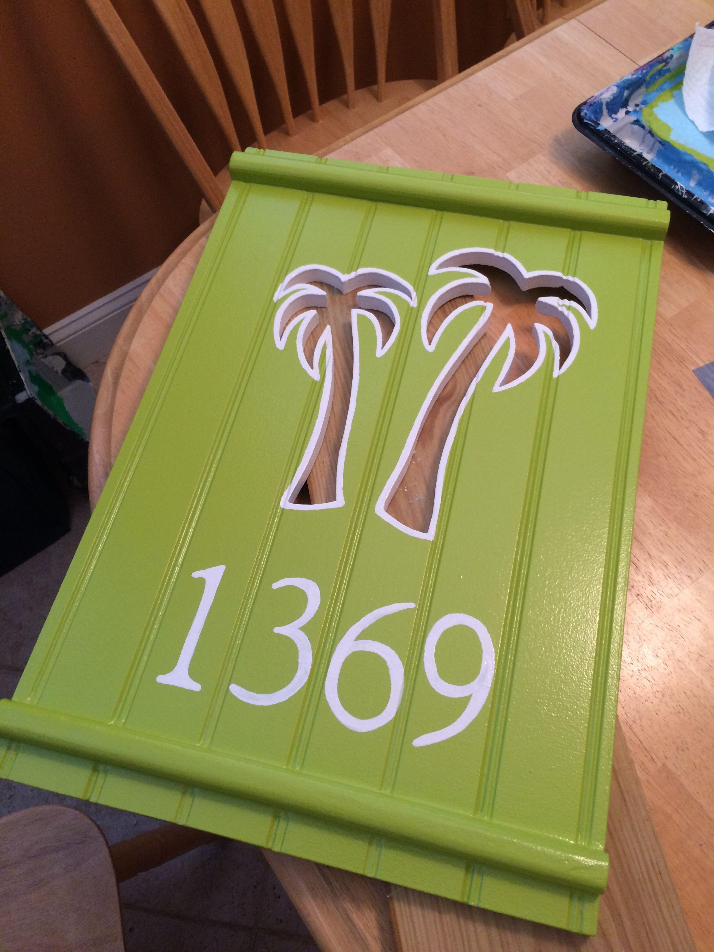 Custom Made Beach House Number Plaque