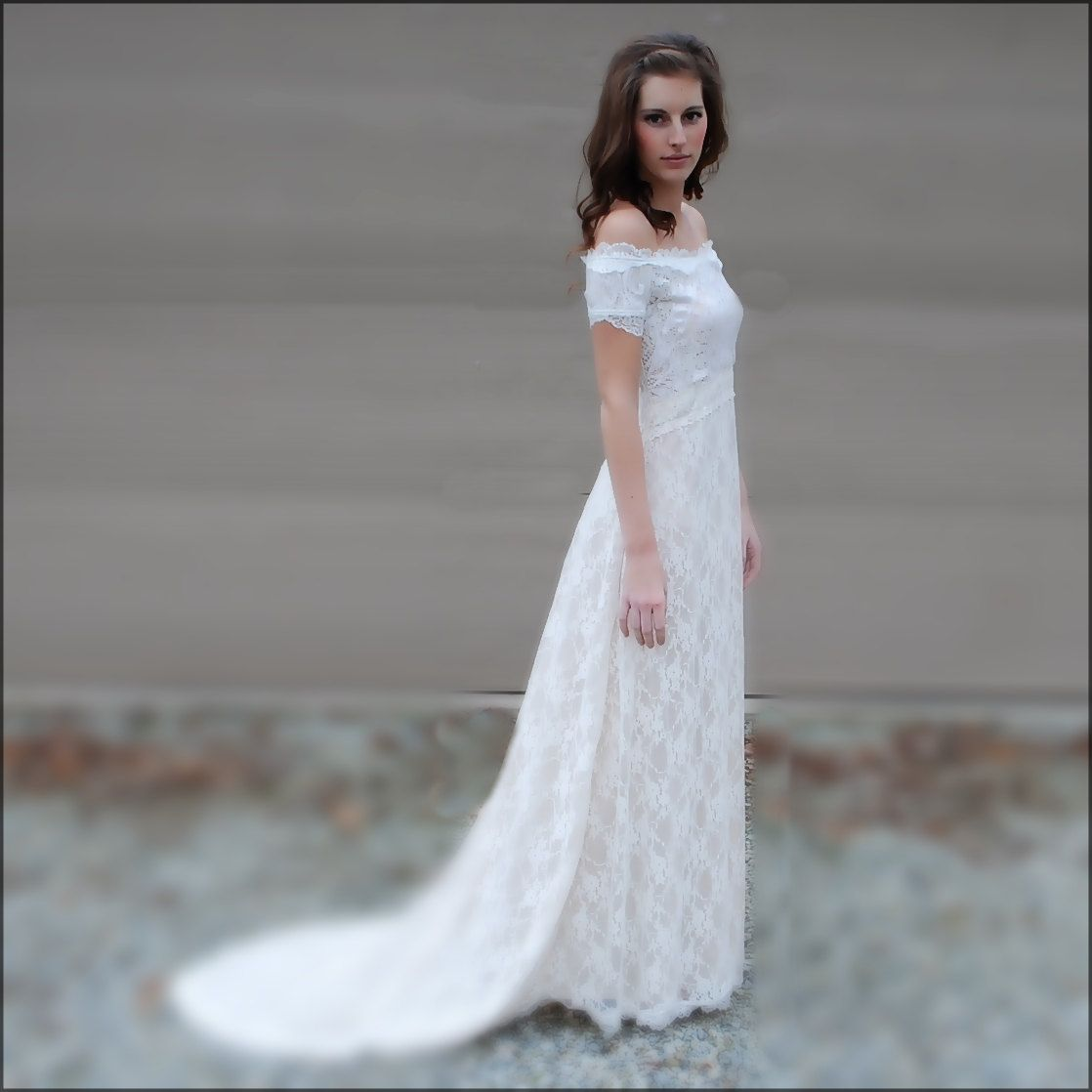 Bohemian wedding dress lace wedding gown s style off
