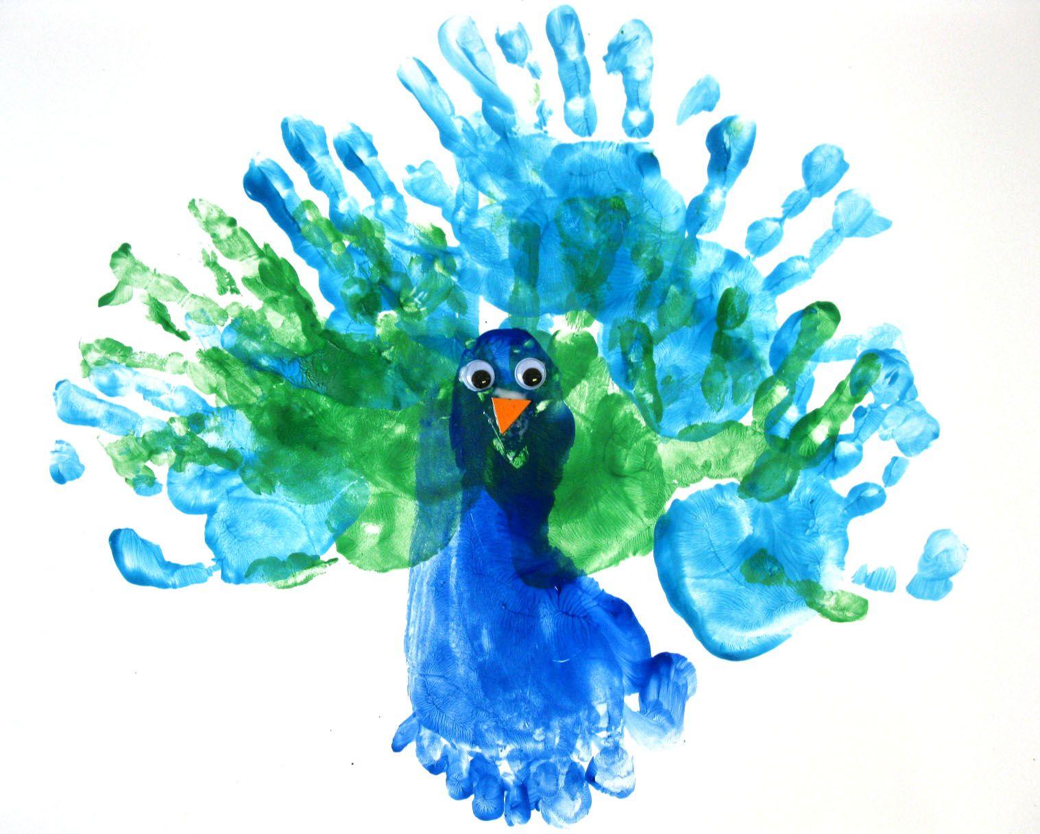 Peacock Footprint Painting