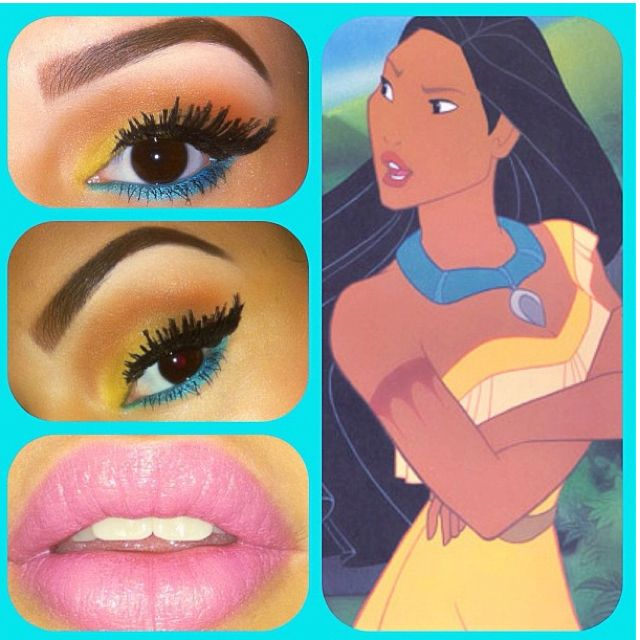 Halloween makeup for Pocahontas. Maybe that's what I should be for halloween