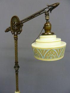 Image Result For How To Restore Metal Art Deco Floor Lamps With Images Art Deco Floor Lamp Art Deco Lamps Gooseneck Floor Lamp