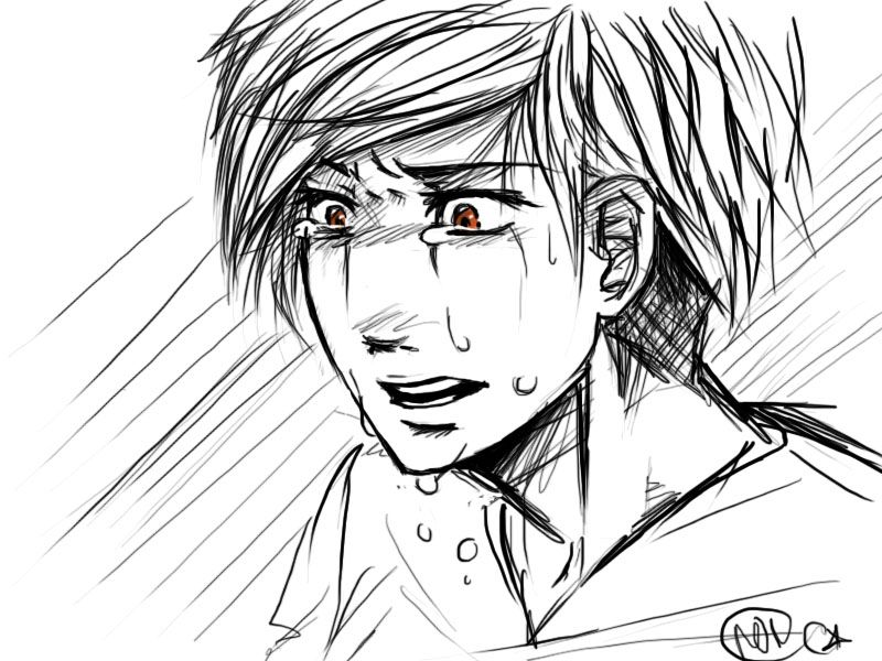Anime Boy Crying Drawing Widescreen 2 Hd Wallpapers Anime Boy