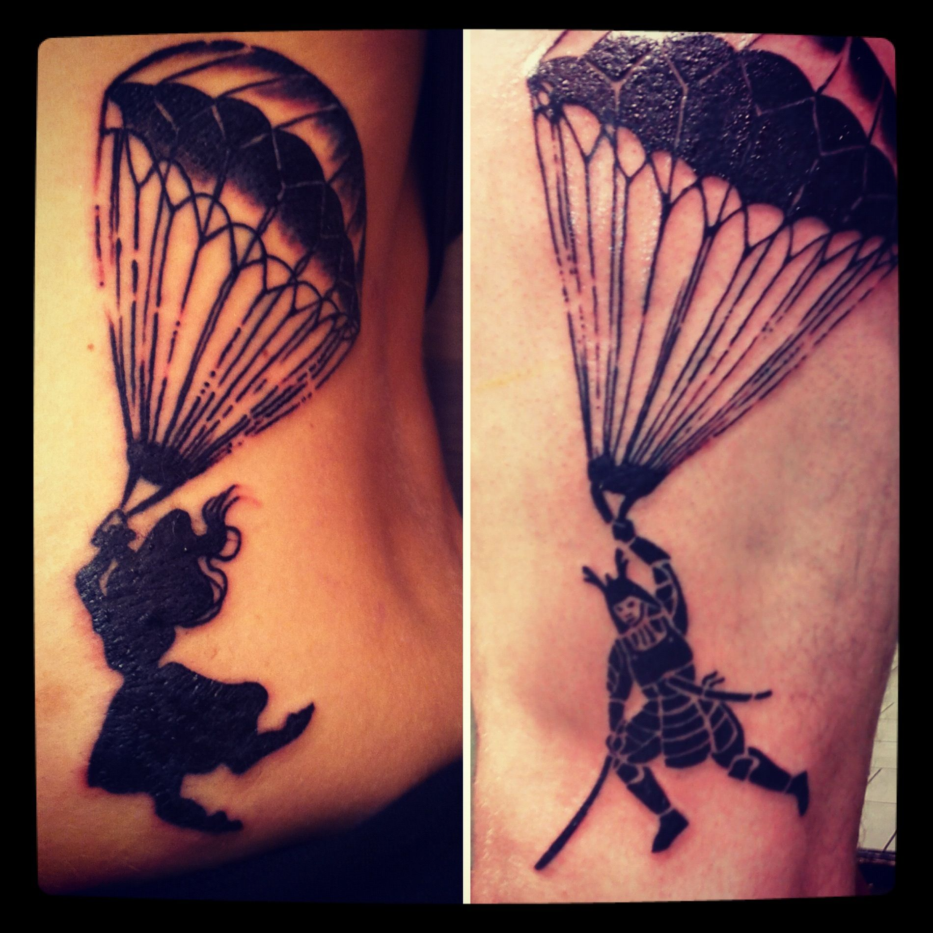 my step dad and i got matching parachute tattoos in honor of our my step dad and i got matching parachute tattoos in honor of our annual skydiving adventures