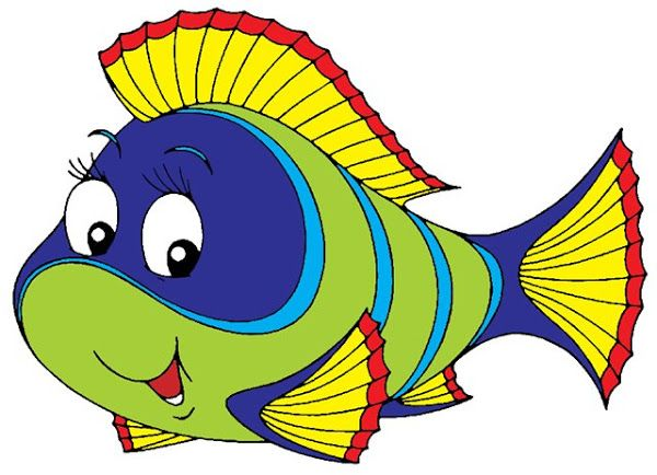 Cross Stitch With Images Cartoon Fish Clip Art Sea Animals Drawings