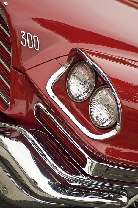 1959 Chrysler 300 Headlight Photograph by Jill