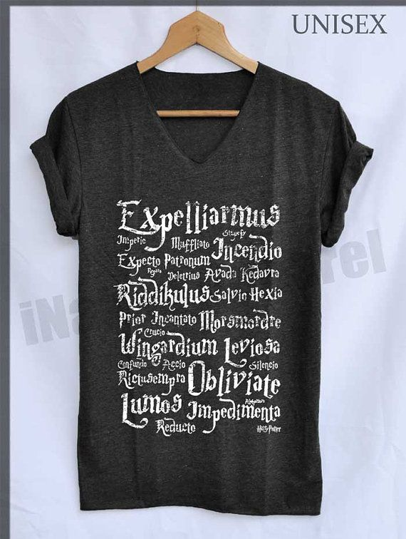 33f86be9 Expelliarmus Magic Spell Normal Shirt Harry by iNakedapparel | Books ...