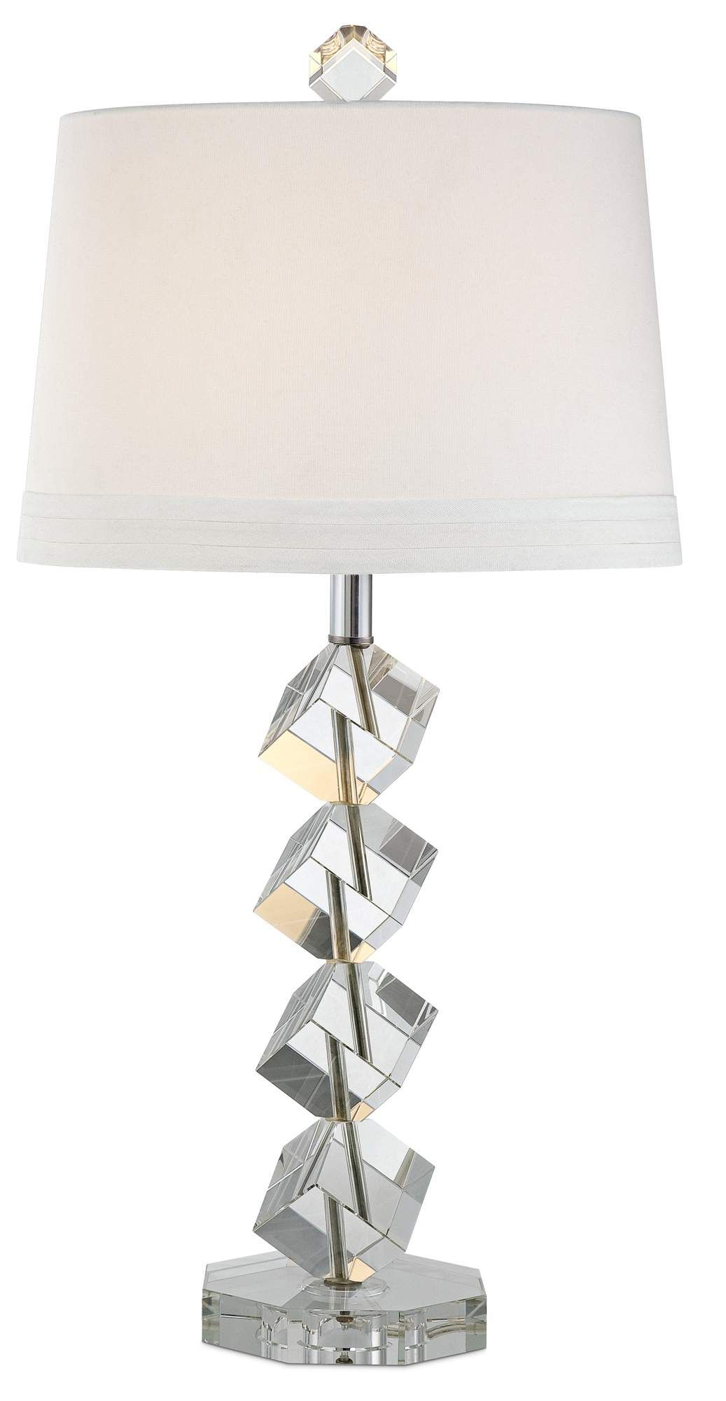 Vienna Full Spectrum Stacked Cubes Crystal Table Lamp