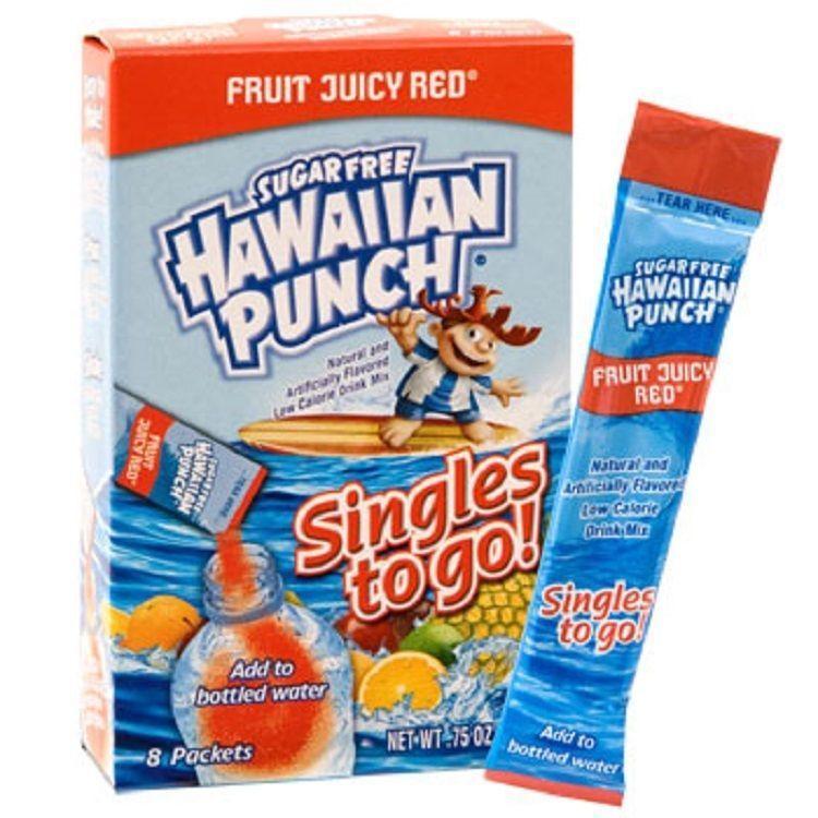 199 hawaiian punch fruit juicy red singles to go sugar