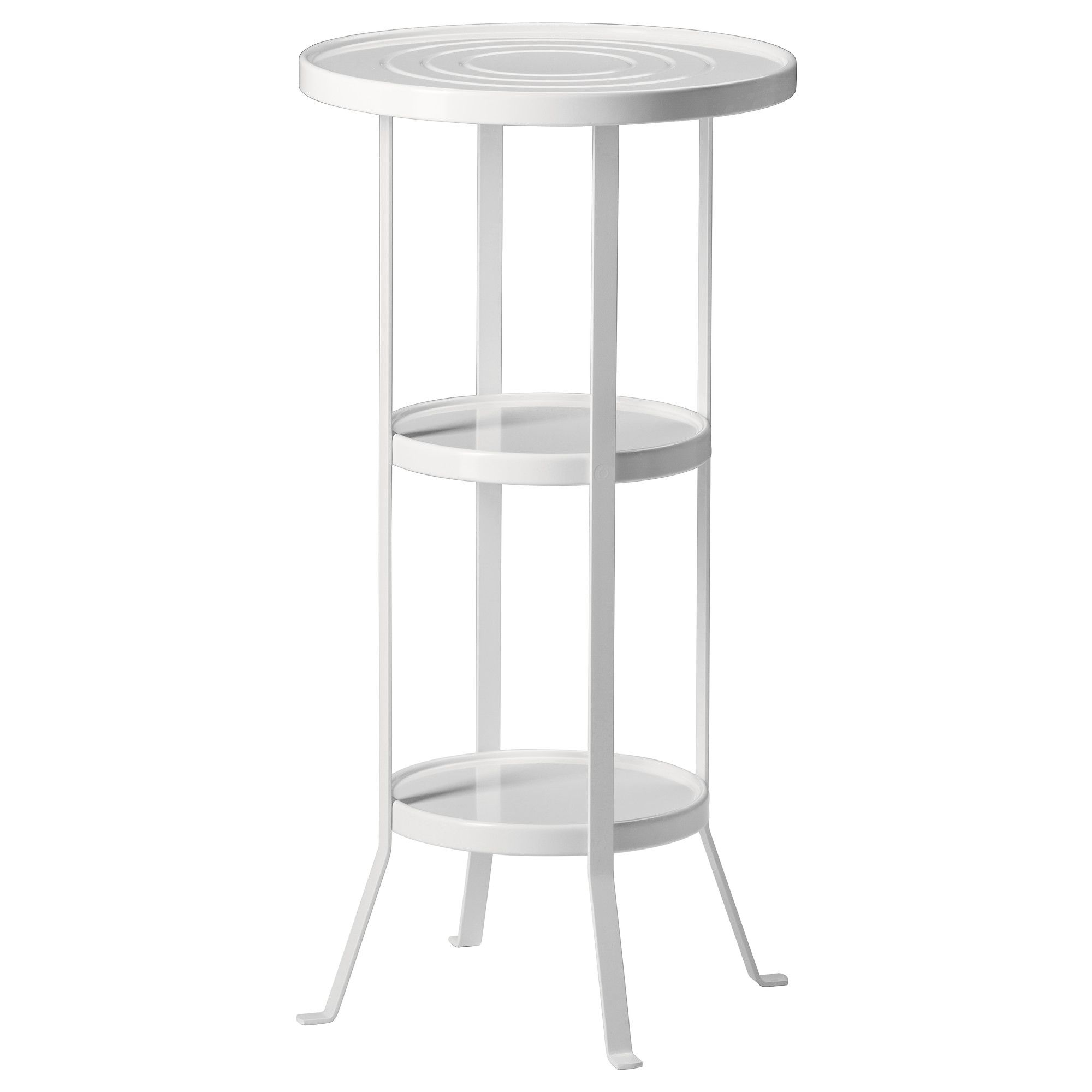 IKEA GUNNERN Pedestal Table White 38 Cm The Raised Edge Around The Table  Top Keeps Things From Sliding Off.