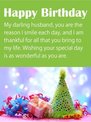 I Am Thankful For You Happy Birthday Wishes Card For Husband Birthday Greeting Cards By Davia Husband Birthday Card Happy Birthday Wishes Thank You For Birthday Wishes