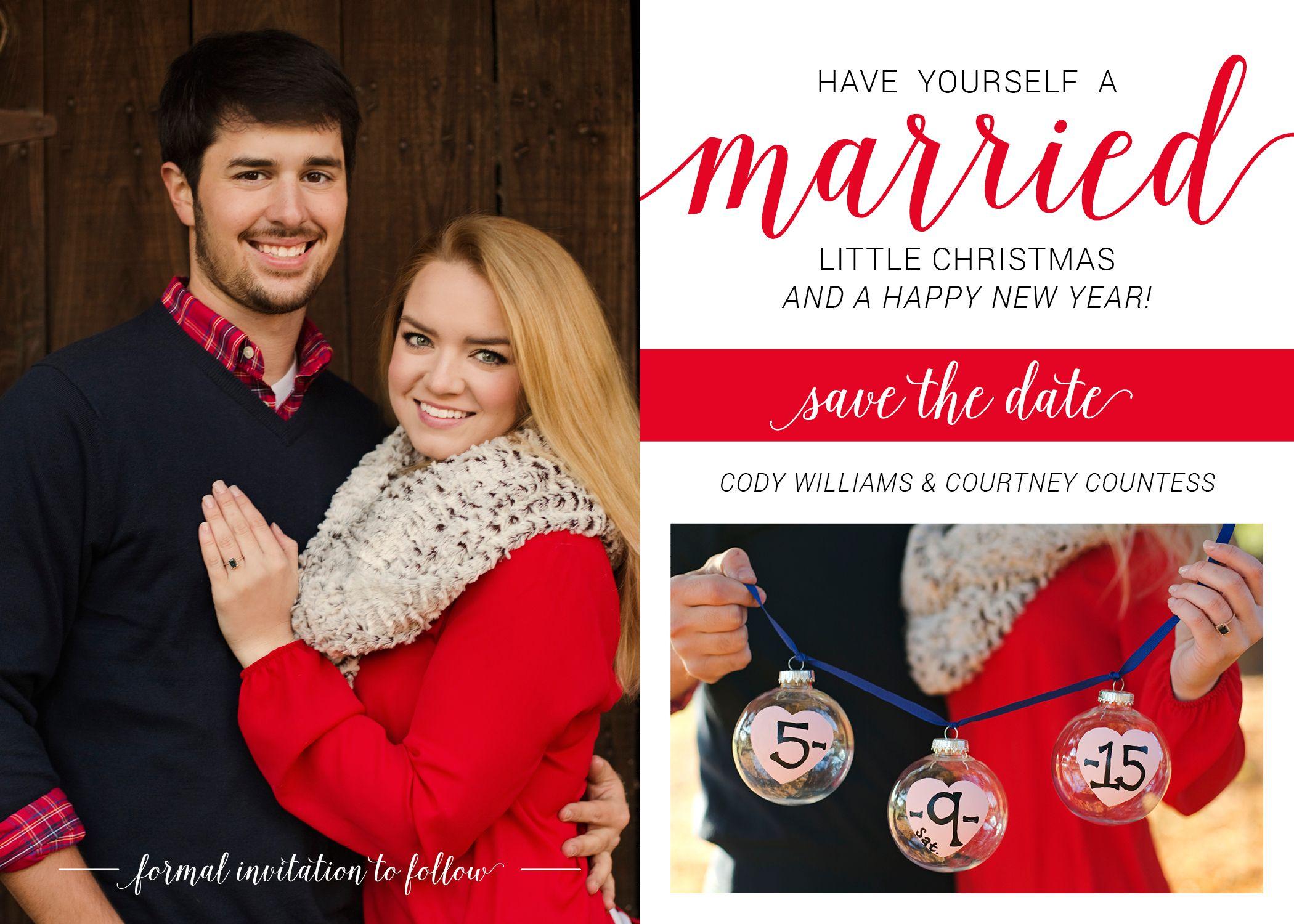 CHRISTMAS CARD // SAVE THE DATE - www.sarahelmore.com