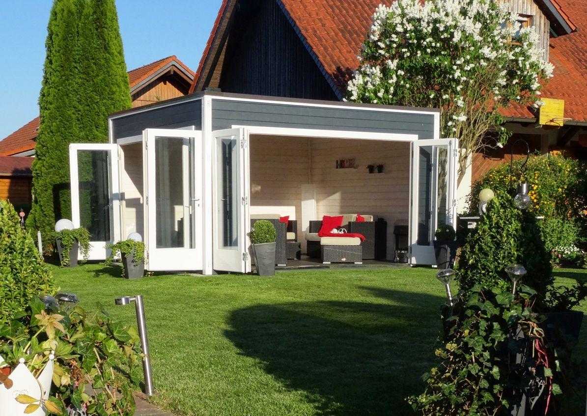 design gartenhaus cubus wave 44 iso saunas and haus. Black Bedroom Furniture Sets. Home Design Ideas