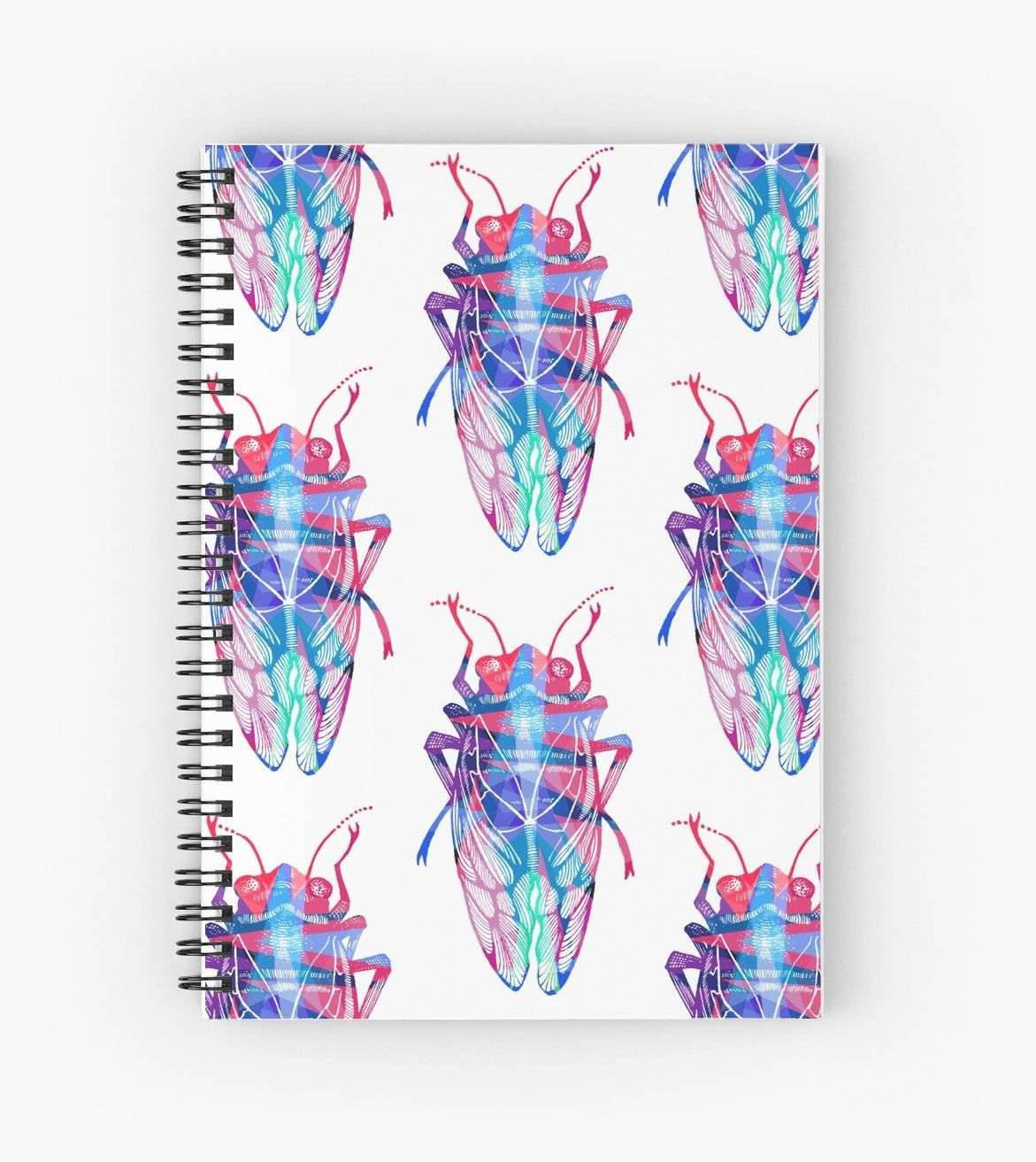 'Pop Art Insect Cicada' Spiral Notebook by meeco Pop