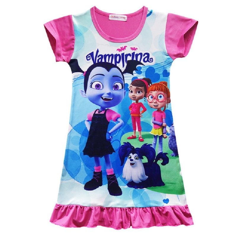 Cosplay Vampirina Girls Kids Sleepwear 2-8Y Fancy Dress Pajamas Tutus Nighgown