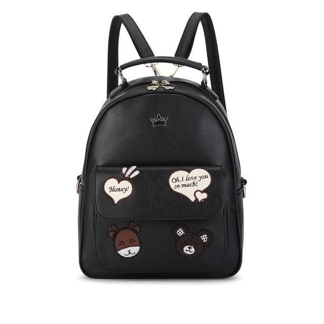 08d6c4ba7494 Vogue Star New 2017 High Quality Women Backpacks Famous Brands Fashion Lady Leather  Backpack Bear School Bag For Teenage LA408