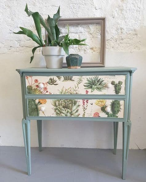 Cactus Themed Sideboard