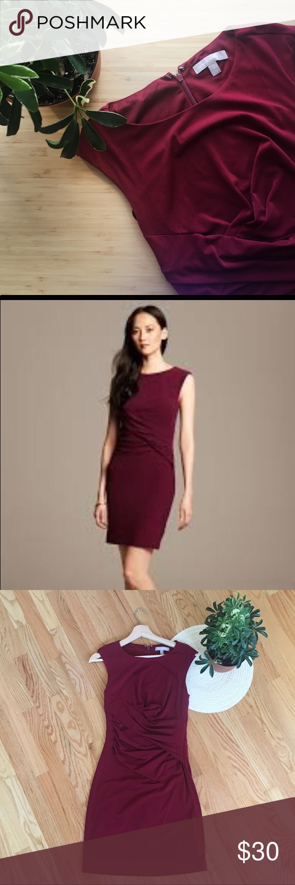 e41b757c2a9 Banana Republic - Burgundy Knit Slink Dress (4) Banana Republic - Burgundy  Knit Slink