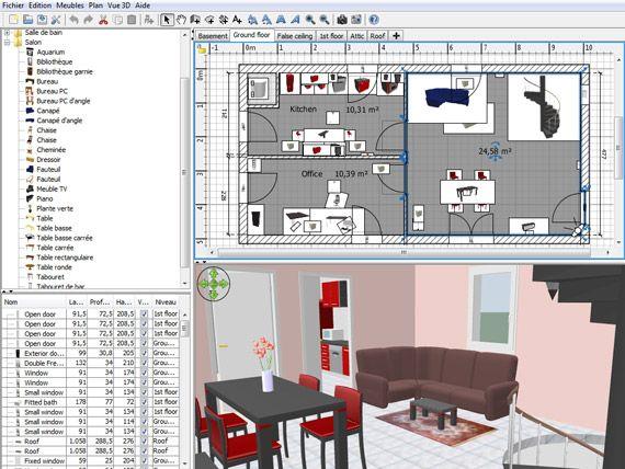Créer Les Plans Dune Maison Ou Dun Bâtiment Et Visualiser En D - Plan de maison sweet home 3d