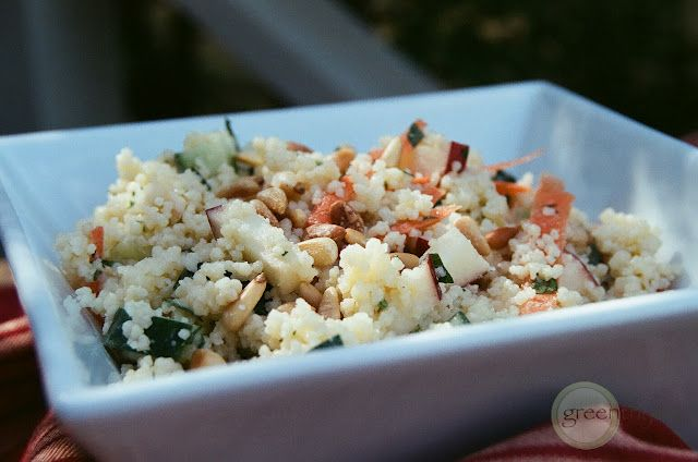 Crunchy Couscous Salad with Tahini Dressing