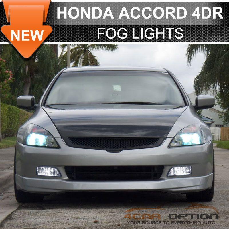 Jdm 06 07 Honda Accord Inspire Uc1 Uc2 Cm5 4dr Fog Light Smoke Lens Wiring Kit Honda Accord Honda Custom Cars