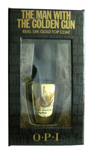 OPI The Man With The Golden Gun - 18K Real Gold Flake Topcoat