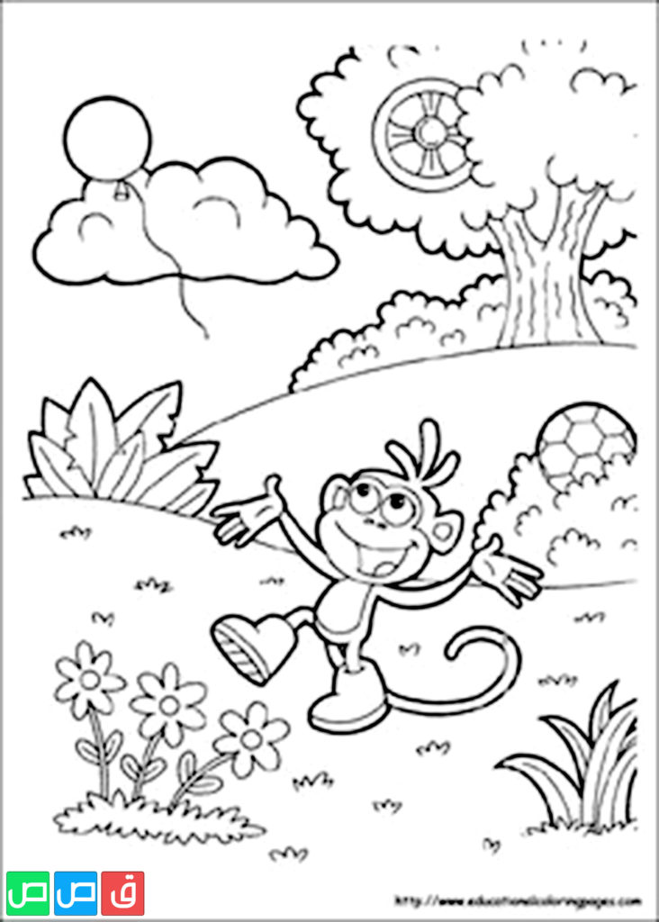 رسومات للتلوين للبنات أكثر من مائة صورة جاهزة للطباعة قصص اطفال Coloring Pages Dora Coloring Monkey Coloring Pages