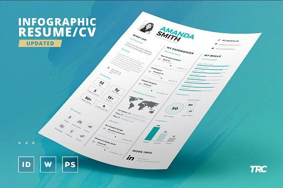 Infographic Resume/Cv Template Vol7 by TheResumeCreator on