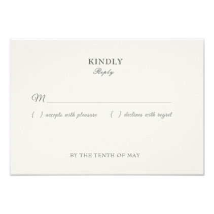 response cards wedding