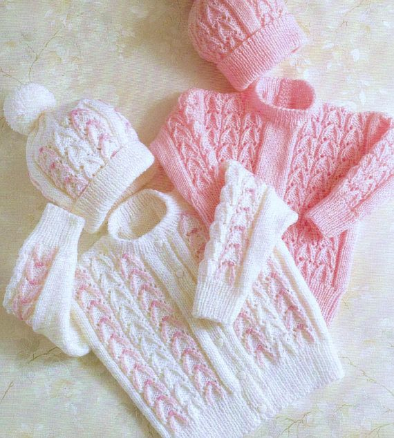 Baby Knitting Pattern pdf Cardigan Sweater Hat | Double ...