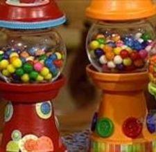 Clay pot gum ball machine